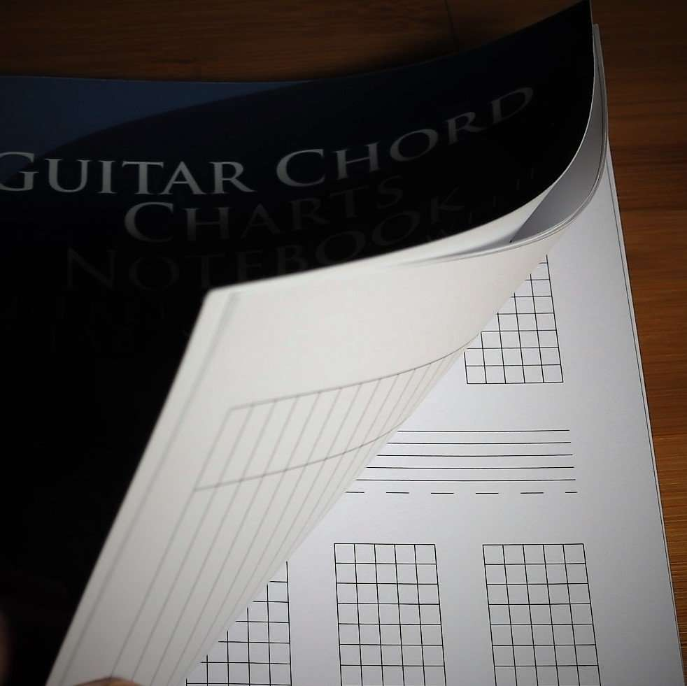Guitar Chord Charts Notebook Picture