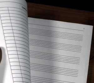 Inside view of Composer's Manuscript Notebook