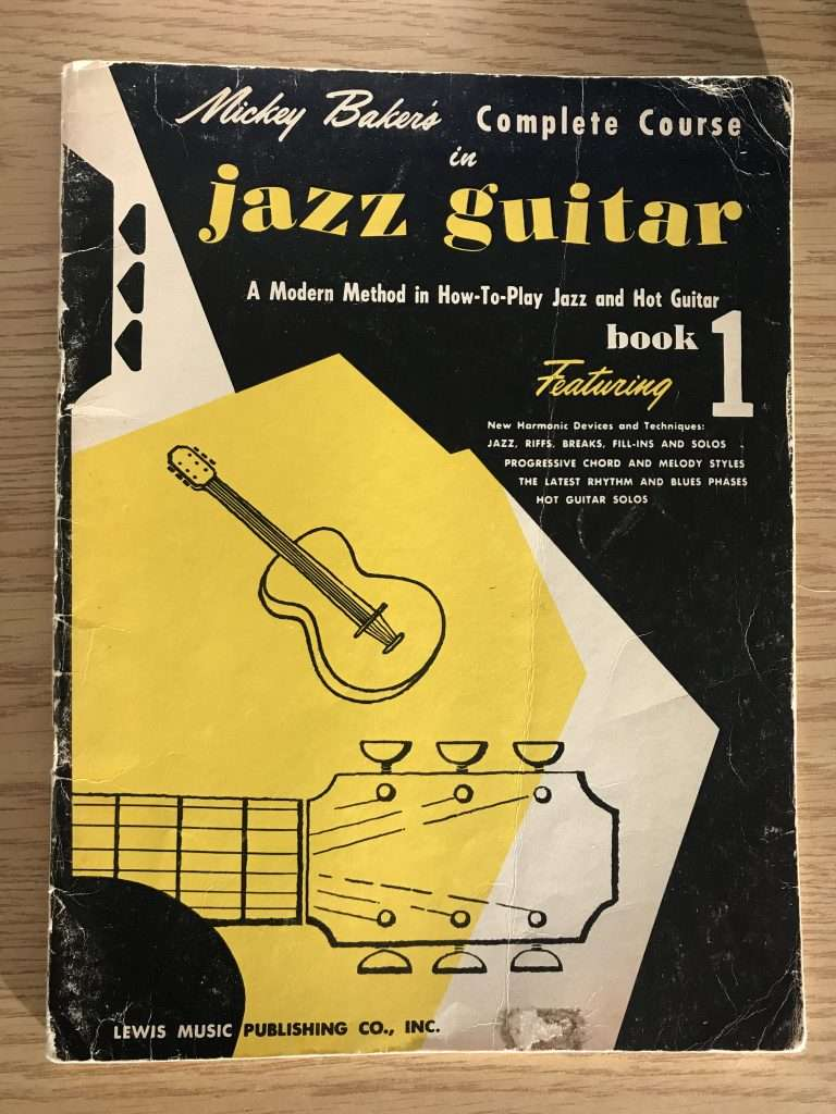 An old copy of Mickey Baker';s Jazz Guitar Book